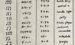16分音符に日本語つけてみた